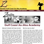 Zanshin Gulf Coast Jiu Jitsu Website Screenshot